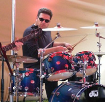 Gary Beckman playing drums