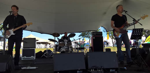 Undercoverband Trio playing at the Soiuch African Cheese Festival
